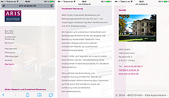 Website Screenshot 9 Smartphone - Kunden - ARIS GmbH – Aktien-Research und Investment-Steuerung
