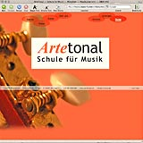 Website Screenshot 1 - Kunde - Artetonal Schule fuer Musik