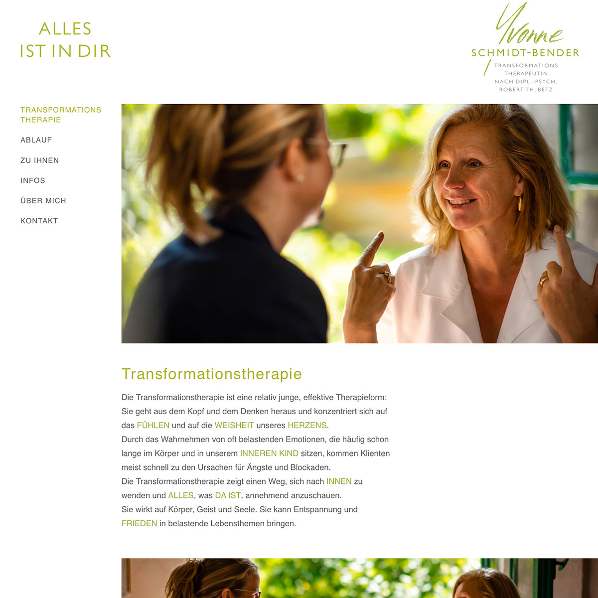 Alles ist in Dir - Coachess für Transformationstherapie
