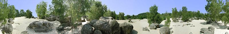 Mer de Sable 2 , Fontainebleau -  panorama - click to open it in a new window